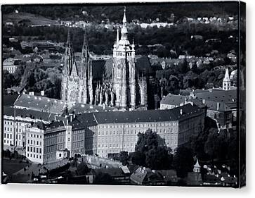 Light On The Cathedral Canvas Print by Joan Carroll