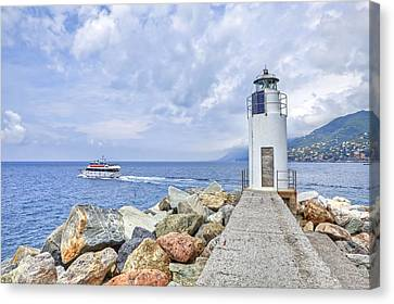 Lighthouse Camogli Canvas Print by Joana Kruse