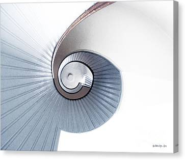 Lighthouse Spiral Staircase Canvas Print by Methune Hively