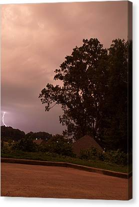 Lightning Strike In Mississippi Canvas Print by Joshua House