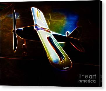 Lil Plane Canvas Print by Cheryl Young