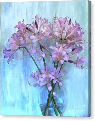 Lilies Pink Canvas Print by Marsha Heiken