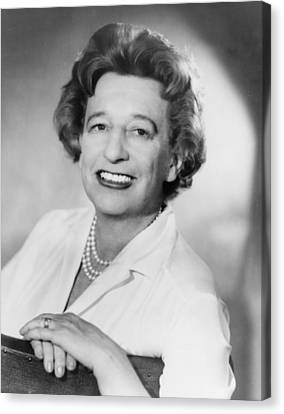 Lillian Hellman 1905-1984 Dramatist Canvas Print by Everett
