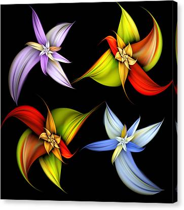 Lilly Montage Canvas Print by Pam Blackstone