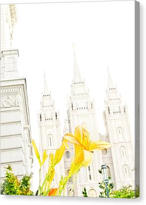 Lily Temple Funky Canvas Print by La Rae  Roberts