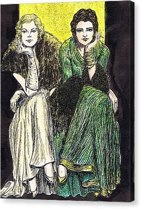 Lilyan And Kay Canvas Print by Mel Thompson
