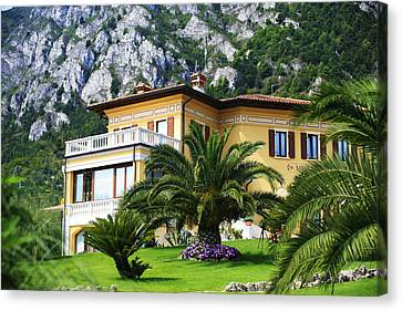 Limone Garda Lake Italy 5 Canvas Print by Isaac Silman