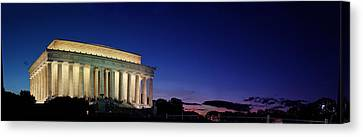 Lincoln Memorial At Sunset Canvas Print by Metro DC Photography