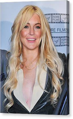 Lindsay Lohan In Attendance For Gotti Canvas Print by Everett