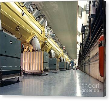 Linear Accelerator Linac Canvas Print by Science Source
