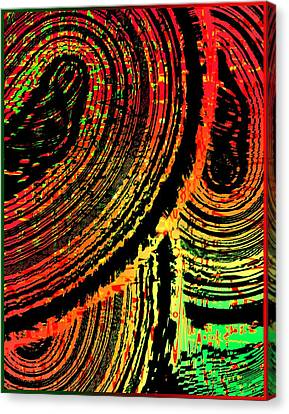Lines In Colored Design Canvas Print by Mario Perez