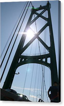 Lions Gate Bridge Vancouver Bc Canvas Print by JM Photography
