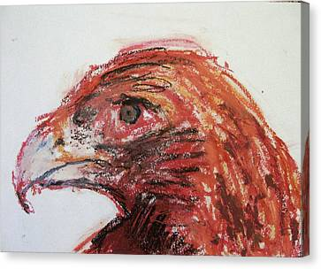 Lipstick Eagle Canvas Print by Iris Gill
