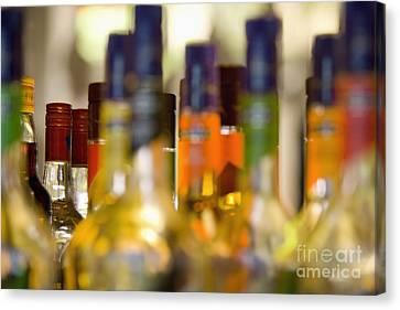 Liquor Bottles Canvas Print by Shannon Fagan