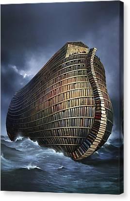 Literary Ark, Conceptual Artwork Canvas Print by Smetek