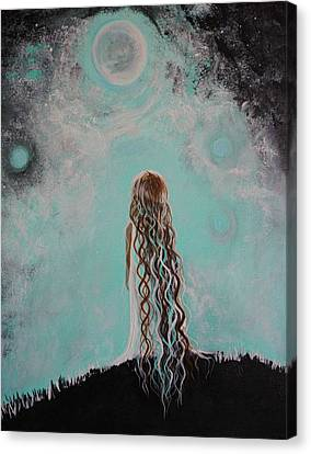 Little Galaxie Three Canvas Print by Leslie Allen
