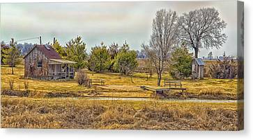 Little House On A Prairie Canvas Print by Bill Tiepelman