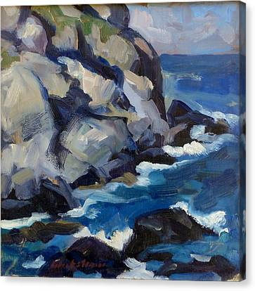 Little Maine Seascape Canvas Print by Thor Wickstrom