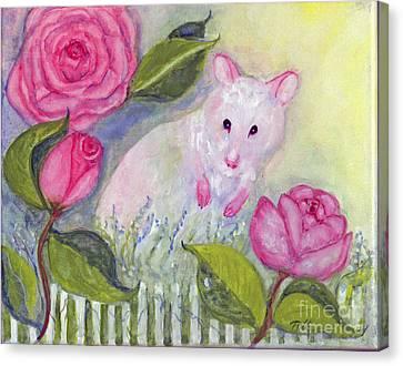 Little Mouse's Garden Canvas Print by Doris Blessington