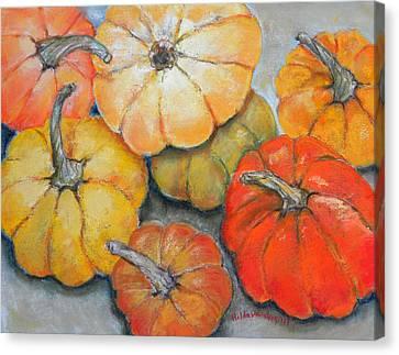 Little Pumpkins Canvas Print by Hilda Vandergriff