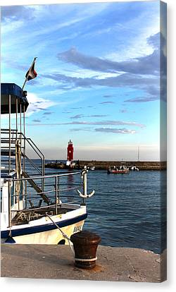 Little Red Lighthouse Canvas Print by Jasna Buncic