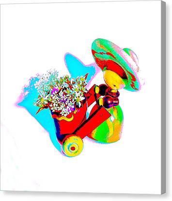 Little Red Senorita Canvas Print by EM Michael