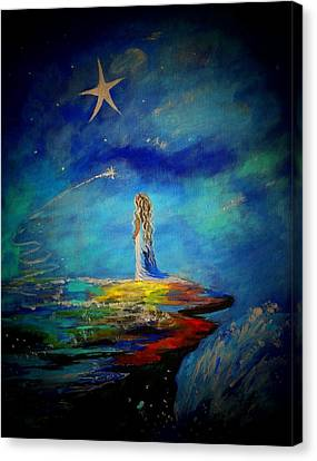 Little Wishes Too Canvas Print by Leslie Allen