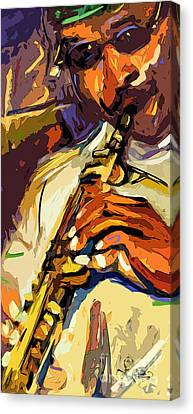 Live Horn Session #1 Canvas Print by Ginette Callaway