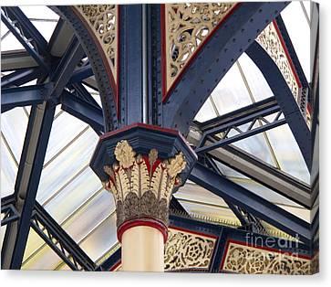 Liverpool Street Skylight Canvas Print by Ann Horn