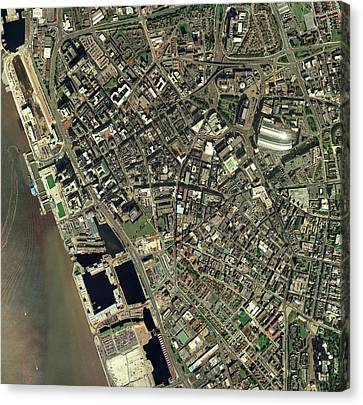 Liverpool, Uk, Aerial Image Canvas Print by Getmapping Plc