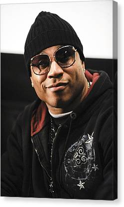 Ll Cool J At The Press Conference Canvas Print by Everett