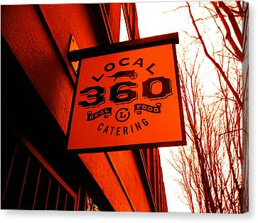 Local 360 In Orange Canvas Print by Kym Backland