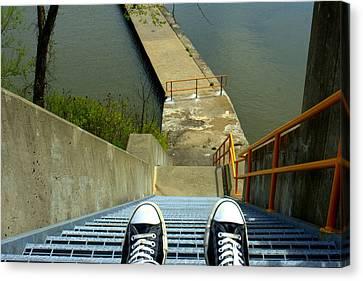 Lock E5 Stairway Canvas Print by Bruce Carpenter