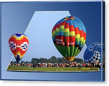 Logan County Bank Balloon 05 Canvas Print by Thomas Woolworth
