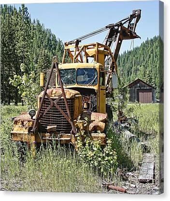 Logging Truck - Burke Idaho Ghost Town Canvas Print by Daniel Hagerman