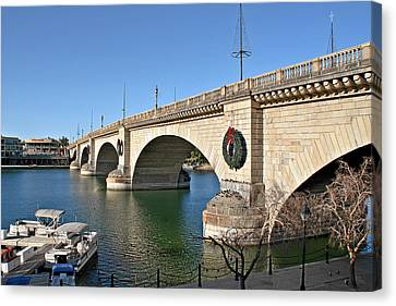 London Bridge Lake Havasu City - The World's Largest Antique Canvas Print by Christine Till