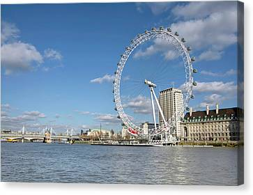 London Eye Canvas Print by Paul Biris