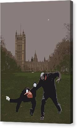 London Matrix Martial Arts Smith Canvas Print by Jasna Buncic