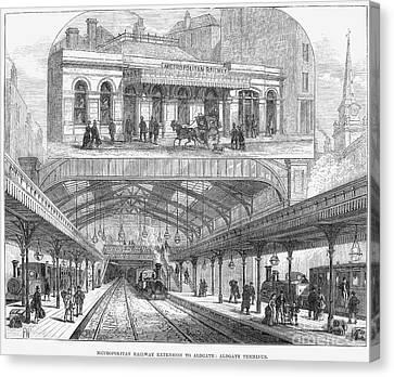London: Railway, 1876 Canvas Print by Granger