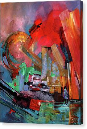 Lonely In The Big City Canvas Print by Miki De Goodaboom