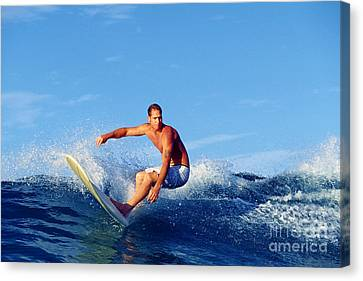 Longboard Surfer Canvas Print by Paul Topp