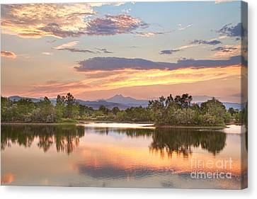Longs Peak Evening Sunset View Canvas Print by James BO  Insogna