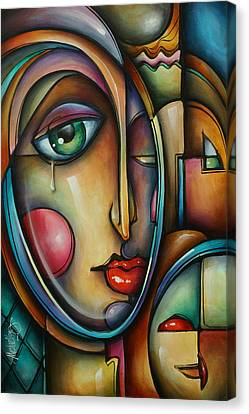 Look Two Canvas Print by Michael Lang