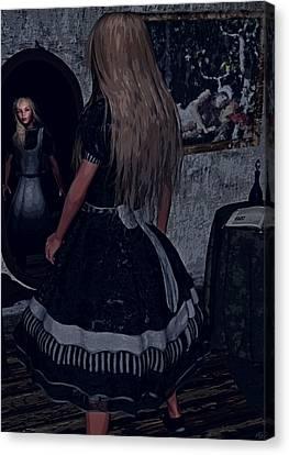 Looking Glass Alice Canvas Print by Maynard Ellis