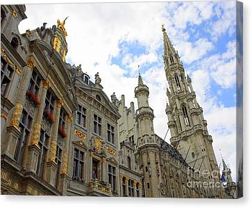 Looking Up At The Grand Place Canvas Print by Carol Groenen