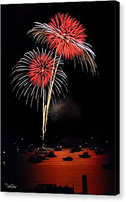 Lopez Island Fireworks 3 Canvas Print by David Salter