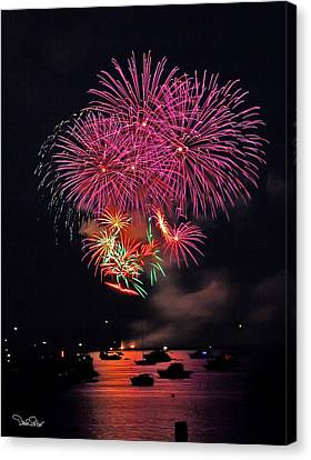 Lopez Island Fireworks 4 Canvas Print by David Salter