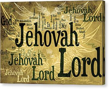 Lord Jehovah 2 Canvas Print by Angelina Vick