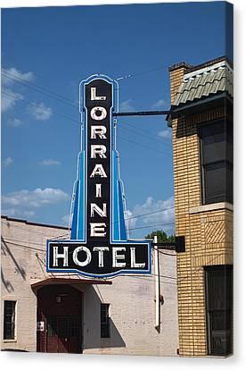 Lorraine Hotel Sign Canvas Print by Joshua House