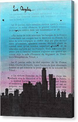 Los Angeles City Skyline Canvas Print by Jera Sky